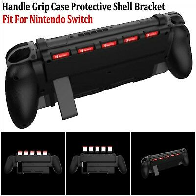 For Nintendo Switch Console Handle Grip Case Cover Guard Bracket w/Kick Stand