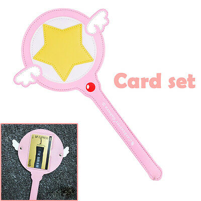Sakura Star Magic Wand Cane Card captor Cards Case Cover Anime
