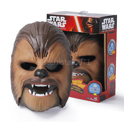 Star Wars The Force Awakens Chewbacca Electronic Mask Voice Gift Party Toy NEW