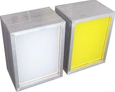 3 Pack Aluminum Screen Printing Frames 110 White Silk Mesh Pre-stretched Screens