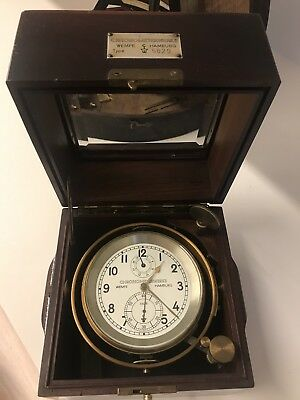 WEMPE 2 Days   Marine Chronometer Working C. 1954 - clean and lubricated a year