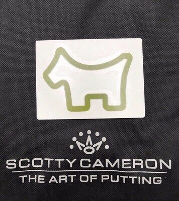 Scotty Cameron Gallery Olive Vinyl Dog Large Sticker Golf Limited Edition-NEW!