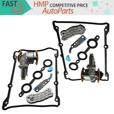 New Camshaft Left& Right Timing Chain Tensioner Full Kit For Audi VW Passat