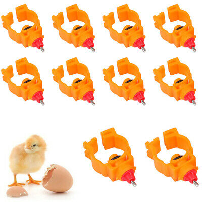 10pcs Automatic Poultry Water Safe Nipple Useful Drinker Feeder Chicken Duck
