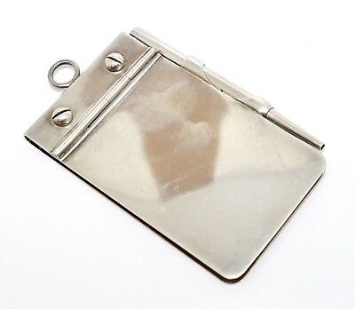 A Fine Quality Antique Victorian C1897 Solid Silver Aide Memoire Notepad #9201