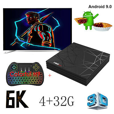 6K ANDROID9 0 T95 Max 4+32G Smart TV Box Quad Core 3D WIFI BT USB3 0  Keyboard H9
