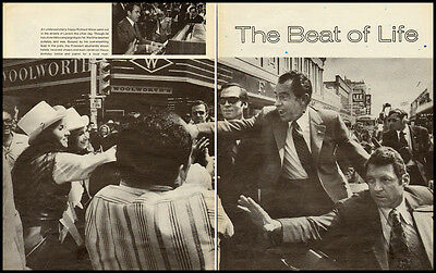 1972 vintage magazine photoarticle, President Richard Nixon on Campaign  -021712