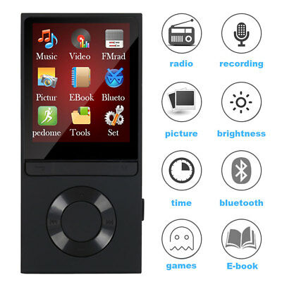 Portable Bluetooth MP3 Music Player with FM Lossless Support up to 128GB AU