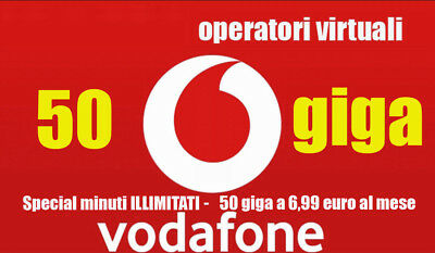Passa a Vodafone minuti ILLIMITATI 50 GB a 6,99€ VIRTUALI - ho.mobile