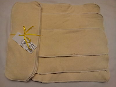 Easy Peasy Hemp Nappy Boosters/Inserts value pack 5. Washable nappy booster
