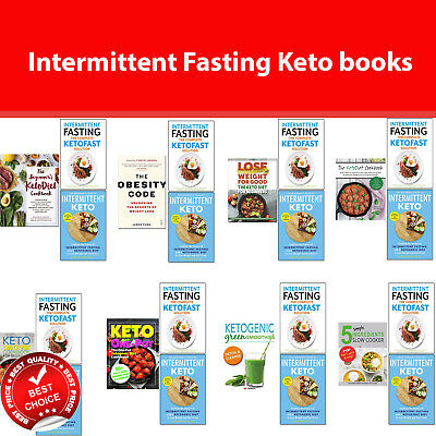 Intermittent Fasting Keto books collection set KetoDiet Cookbook, Obesity Code