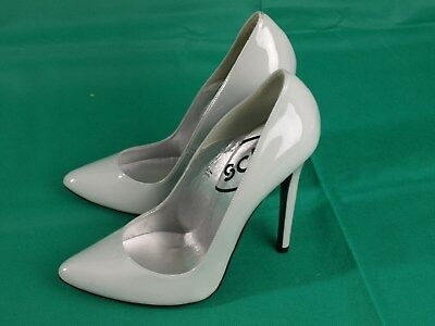 68bfc127fb0 STUNNING LOIS POINT Patent Grey, Killer Stiletto Heels! By Schuh ,Size EU,39