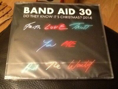 BAND AID 30 . DO THEY KNOW IT'S CHRISTMAS  4 track C.D. SINGLE . 2014