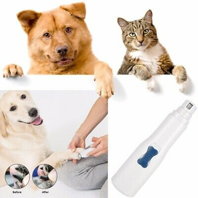 Premium Electric Pet Nail Grinder Paws Grooming Trimmer Dog Cat Clipper Tool #