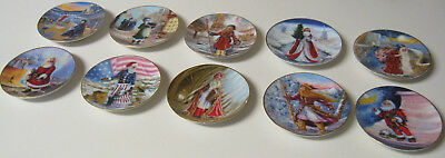 Duncan Royale -History Of Santa Clause - 1983 - Miniature Plate Set Of 10 Plates