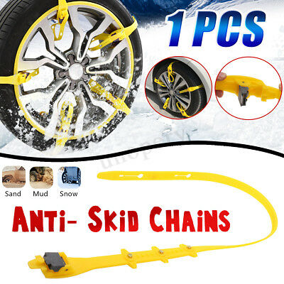 Winter Car Snow Chains Beef Tendon Vehicle Wheel Tyre Anti Skid TPU Nylon Strap