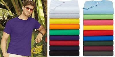 Men's T Shirt 5 Pack Fruit of the Loom Multipack T Shirt 100% Cotton SS048