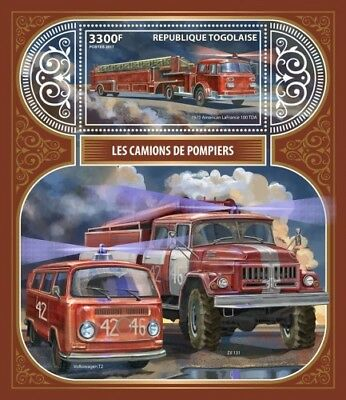Z08 TG17404b Togo 2017 Fire Engines MNH Mint