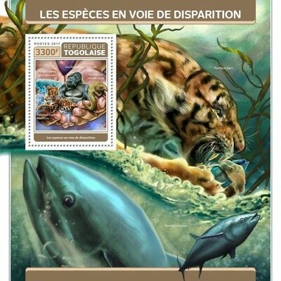 Z08 TG17310b Togo 2017 Endangered Species MNH Mint
