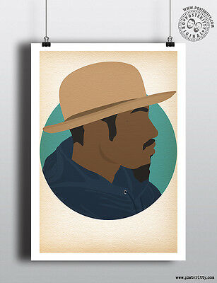 ANDRE 3000 - Minimalist Hip Hop Heads Hair Poster Minimal Posteritty Art Outkast