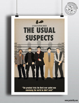 THE USUAL SUSPECTS Minimalist Art Movie Poster Minimal Print by Posteritty
