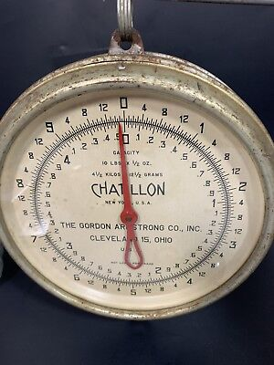 Vintage CHATILLON Hanging 10 Lb Scale