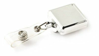 """KEY-BAK RETRACT-A-BADGE 5-Pack Square Retractable Badge Holder with 36"""" Cord, Be"""