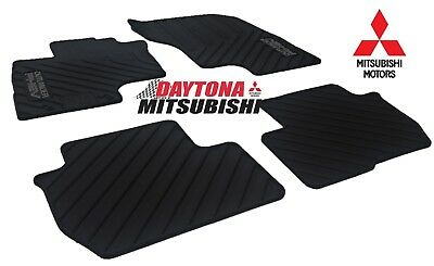 New Genuine Mitsubishi 2019 Outlander PHEV Rubber All Weather Floor Mats OEM