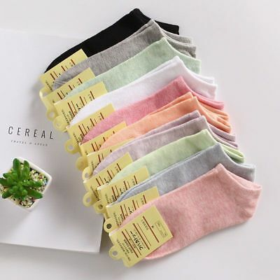 Women Socks Ankle Cotton Lady Girls Fashion Casual Solid Standard Female 5 Pairs