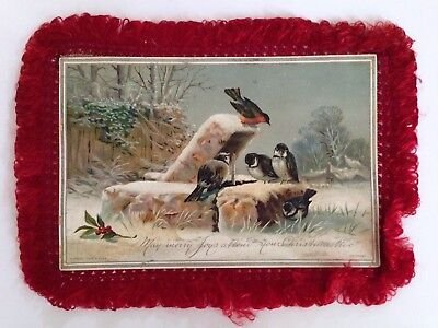 Antique Raphael & Sons Christmas Fringe Card