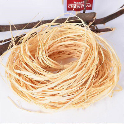 Gift Box DIY crafts Dry Straw Pape Raffia Ribbon Packing Wrapping Supplies