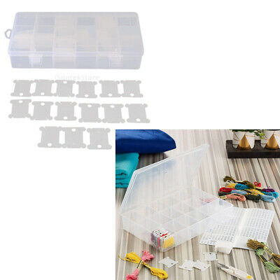 Embroidery Thread Organizer Case and 120pcs Floss Bobbins for Cross Stitch