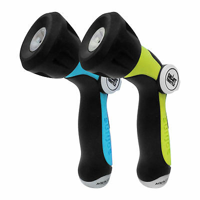Aqua Joe 2-Pack Adjustable Hose Nozzles | Smart Throttle | Colors Will Vary