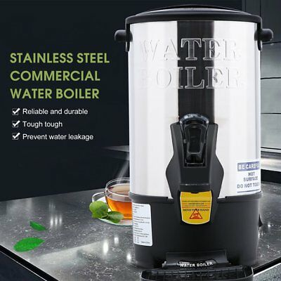 Stainless Steel 8L Electric Catering Kitchen Hot Water Boiler Tea Urn Coffee NEW