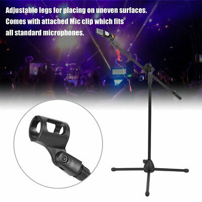 High Quality Professional Boom Microphone Mic Stand Holder Adjustable 2 Clips SA