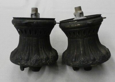 Pair of Antique Victorian Gas Light Fixtures-Brass and Ceramic
