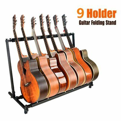 New 9 Way Multi Folding Guitar Rack Stand by Chord For Electric Bass Acoustic