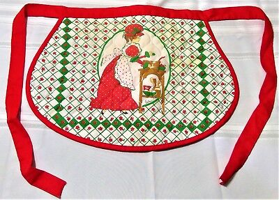 Christmas apron Arline antique classic red white cooking kitchen beautiful