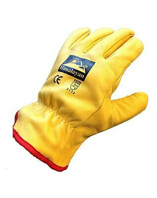 Himalayan Homme   Femmes Complet Doublure Polaire Cuir Hiver Froid Drivers  Gants 8c4b340e592