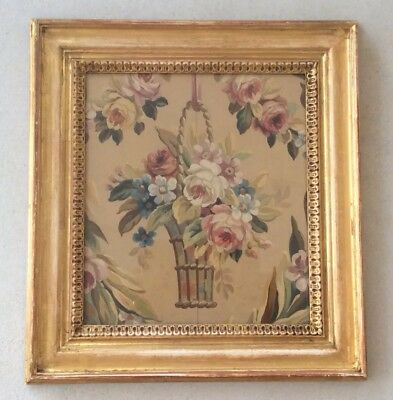 French Aubusson Tapestry Watercolour Study 19th Century