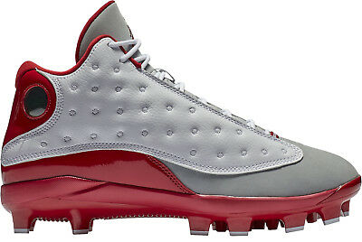 f7de5e7b4f3 Nike Men s Air Jordan RETRO XIII MCS Baseball Cleats White Gym Red AJ8016 -126