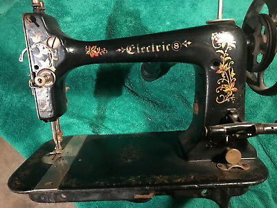 Old Singer Electric Sewing Machine Head,4 Parts or Restoration