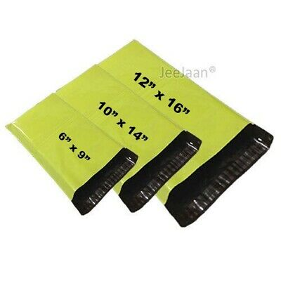 Neon Green Mailer Bags Postal sacks Plastic Envelopes Self Seal Post Mailing Bag