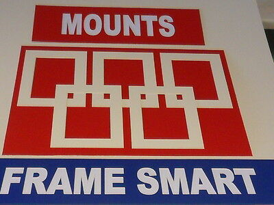 5 x CREAM/IVORY PICTURE/PHOTO MOUNTS 7x7 for 5x5 PRICED TO CLEAR STOCK