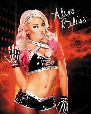 ALEXA BLISS #5 (WWE) - 10x8 PRE PRINTED LAB QUALITY PHOTO (SIGNED) (REPRINT)