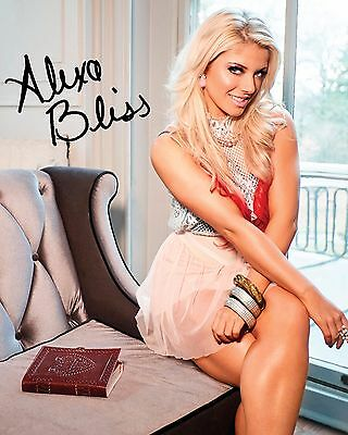 ALEXA BLISS #4 (WWE) - 10x8 PRE PRINTED LAB QUALITY PHOTO (SIGNED) (REPRINT)