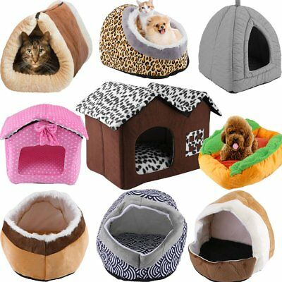 Pets Bed Small Soft Indoor Dog Cat Puppy Warm Sofa House Mat Nest Cushion Flee