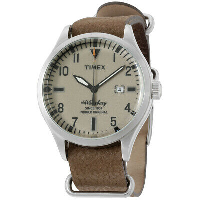 Timex The Waterbury Brown Dial Leather Strap Men's Watch TW2P64600