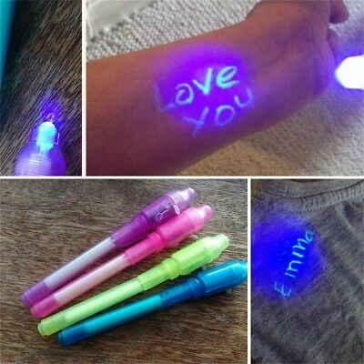New 1pc Invisible Ink Spy Pen Built in UV Light Magic Marker Secret Message