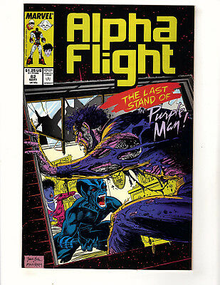 "Alpha Flight #62 (1988, Marvel) VF+ ""Last Stand of the Purple Man"" Jim Lee Art"